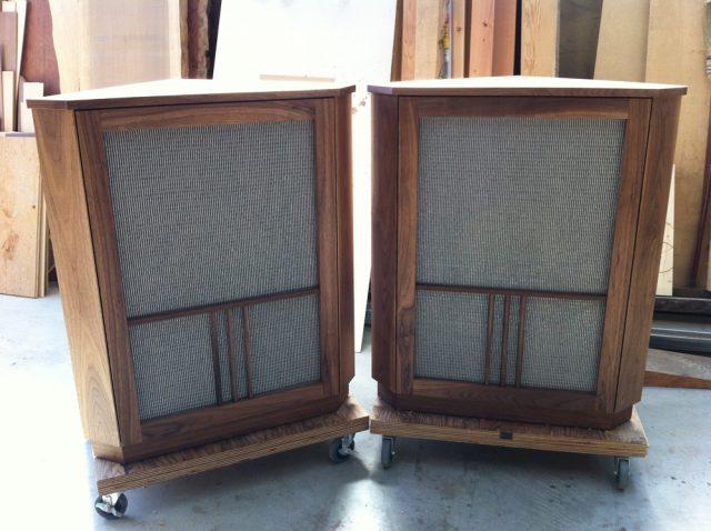 無垢 大阪 スピーカー ウォールナット オーダー家具 エンクロージャー 天板 無垢材 スピーカーボックス(エンクロージャー)