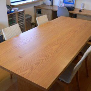 大阪, オーダー家具 ナラ無垢材・イゾンベ無垢材(足)オフィステーブル