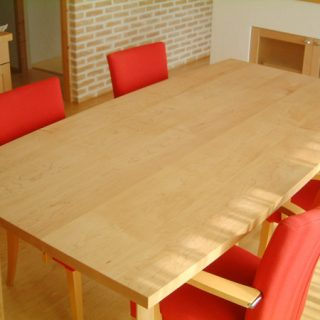 メープル無垢材 5枚ハギダイニングテーブル