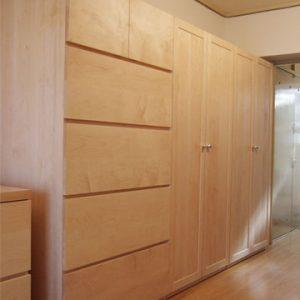 大阪, オーダー家具 オールメープルのチェスト、 ワードローブ