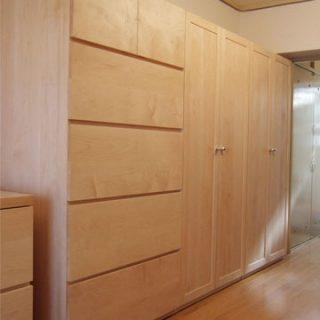 大阪 オーダー家具 オールメープルのチェスト、 ワードローブ