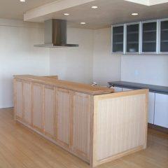 大阪 オーダー家具 タモ無垢材 オーダーキッチン