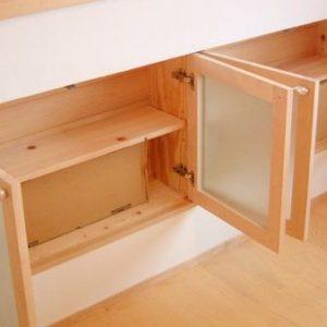 大阪, オーダー家具 メープル無垢材キッチン収納