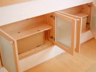 大阪 オーダー家具 メープル無垢材キッチン収納