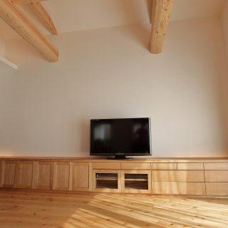 ード AVボ 無垢 マルチメディアボード タモ 大阪 オーダー家具 一枚板 無垢材 タモ無垢材AVボード