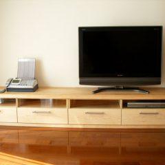 大阪 オーダー家具 カナダ産ハードメープル オイルフィニッシュ カナダ産ハードメープルAVボード