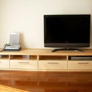 大阪, オーダー家具, カナダ産ハードメープル, オイルフィニッシュ カナダ産ハードメープルAVボード