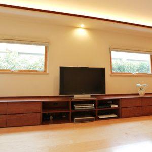 大阪, オーダー家具, AVボード, 無垢材, パウロッサ, パオロッサ, オイルフィニッシュ パウロッサ無垢材AVボード