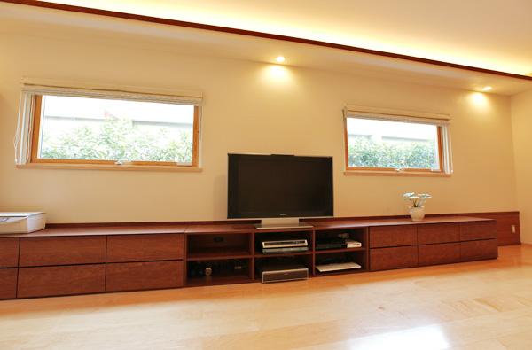 大阪 オーダー家具 AVボード 無垢材 パウロッサ パオロッサ オイルフィニッシュ パウロッサ無垢材AVボード