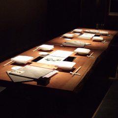 大阪 オーダー家具 ボセ無垢材 飲食店8人がけ大テーブル