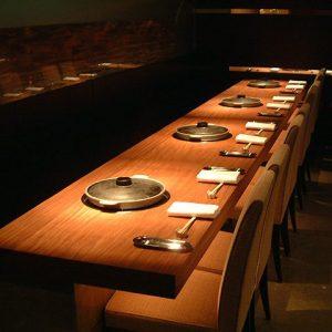 大阪, オーダー家具 アメサラ無垢材 飲食店カウンターテーブル