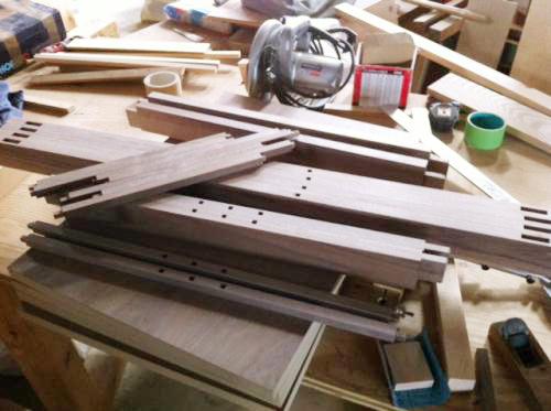 無垢, 大阪, スピーカー, ウォールナット, オーダー家具, エンクロージャー, 天板, 無垢材 スピーカーボックス(エンクロージャー)