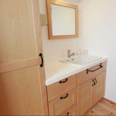 洗面台 大阪 メープル オーダー家具 無垢材 メープルの香りが素敵な洗面