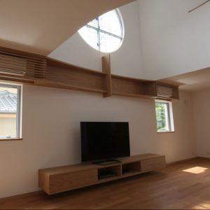 オーク, 大阪, オーダー家具, ナラ, AVボード, 無垢材 オークテレビボード