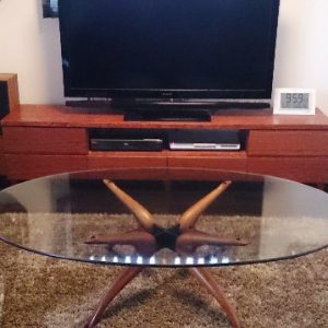 大阪, オーダー家具, テレビボード, テレビラック, ローボード, リビング収納, TVボード, ブビンガ, AVボード, 無垢材 ブビンガTVボード