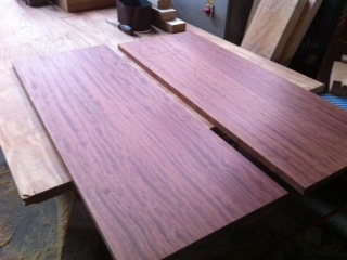 大阪 オーダー家具 一枚板 サイドボード ブビンガ 無垢材 オイルフィニッシュ ブビンガサイドボード