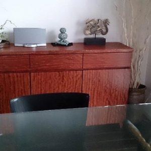 大阪, オーダー家具, 一枚板, サイドボード, ブビンガ, 無垢材, オイルフィニッシュ ブビンガサイドボード