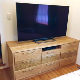 檜 oak 無垢 ヒノキ オーク 大阪 楢 オーダー家具 テレビボード アガチス 一枚板 天板 無垢材 楢無垢材のお任せテレビボード